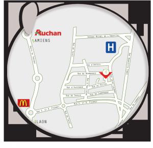 plan Com'1 Déclic - 33 rue du poitou Saint-Quentin